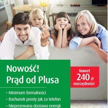 Prąd od Plusa dla klientów indywidualnych!
