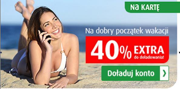 40% ekstra za doładowanie bankowe
