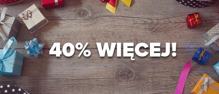 Kolejna promocja: 4-5 grudnia Plus dodaje 40% do doładowania online!