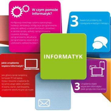 INFORMATYK – usługa wsparcia informatycznego dla Twojej Firmy w Plusie
