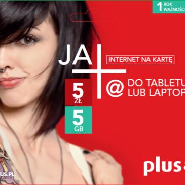 Odbierz bezpłatny starter JA+ Internet Na Kartę!