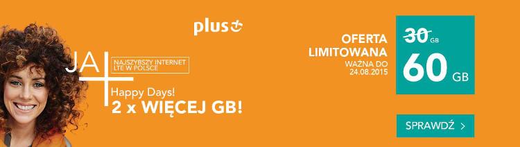 Ponownie HAPPY DAYS w e-sklepie, czyli znów 60 GB w specjalnej promocji Plusa!