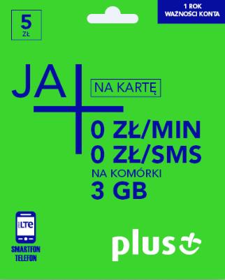 Oferty w plusie na karte za 1 zł